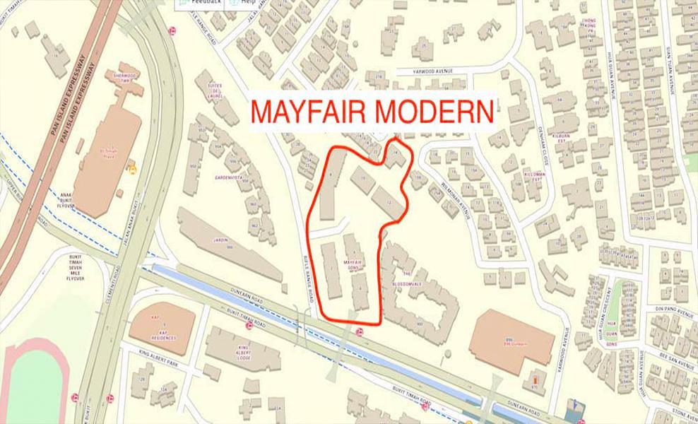 Mayfair Modern Condo Oxley Exact Map Site