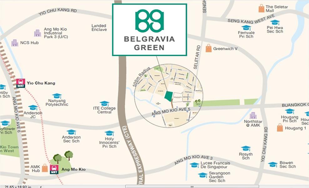 Belgravia Green Location Map