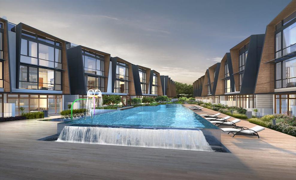 Belgravia Green Ang Mo Kio Tong Eng Brothers Official Building Night View Swimming Pool
