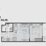 A Space Me Sukhumvit 77 floor plan 1 br B