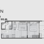 A Space Me Sukhumvit 77 floor plan 1 br G
