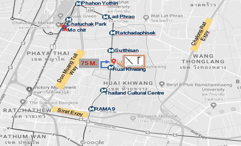 XT Huai Khwang Location Map