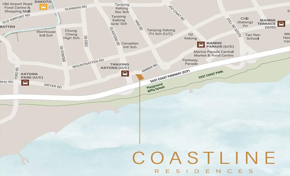 Coastline Residences Location-Map