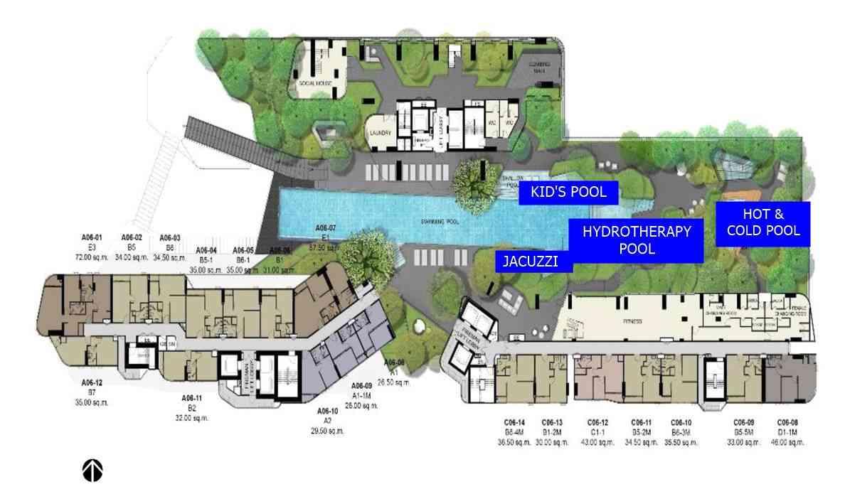 Ideo-Q-Phahol-Saphan-Kwai-6th-floor-facilities-plan