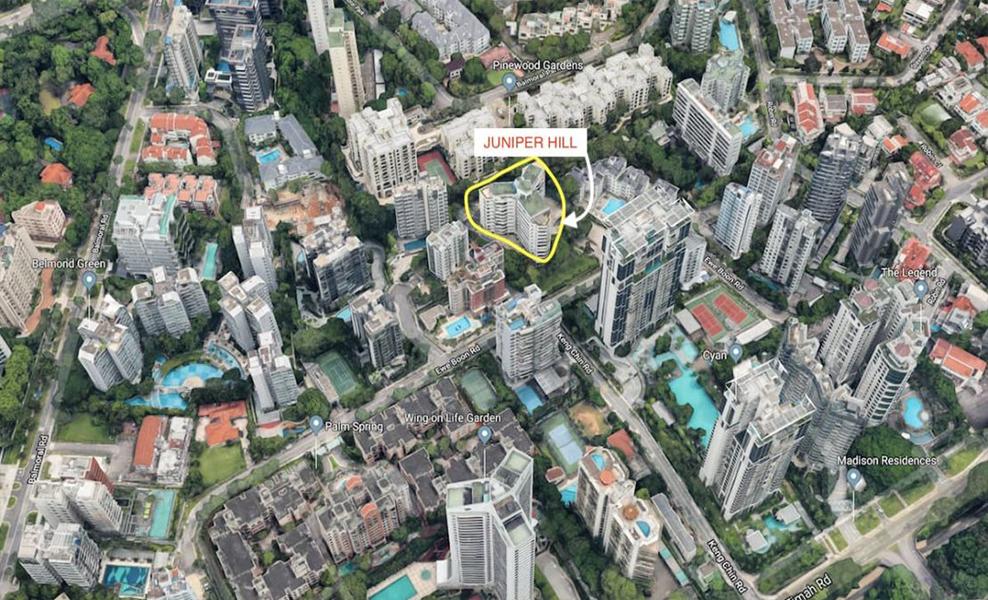 Juniper Hill Condo Allgreen_Bukit_Timah_Location_Map