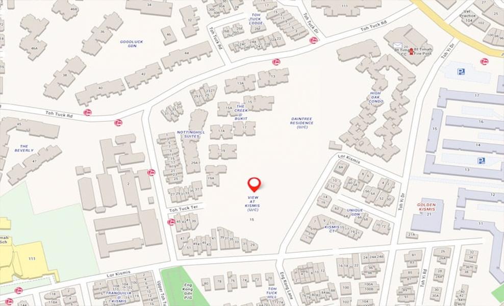 View_At_Kismis_Condo_Upper_Bukit_Timah_Location_Map