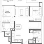 Peak-Residence-Official-2Bed-Floor-Plan-Type-B4-829Sqft-Singapore