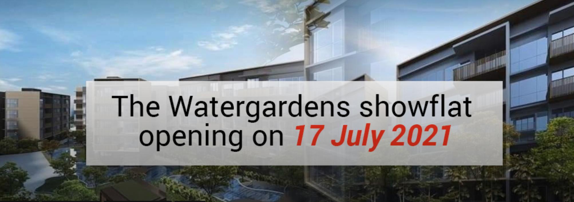 the watergardens showflat opening